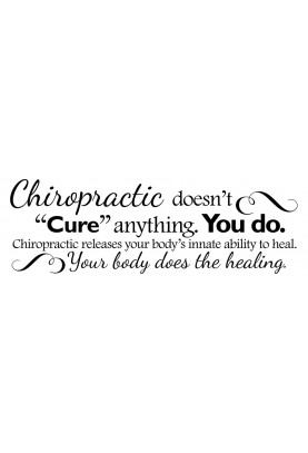 "Chiropractic Doesn't Cure Anything Decal - 60"" x 20"""