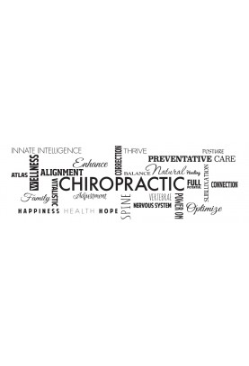 "Chiropractic Word Collage Decal - 66"" x 22"""