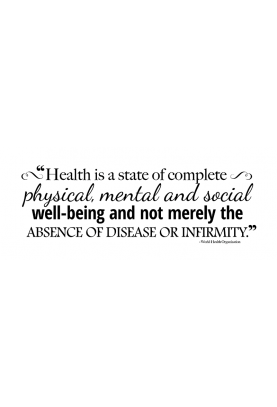 "Health is a State Decal - 60"" x 20"""