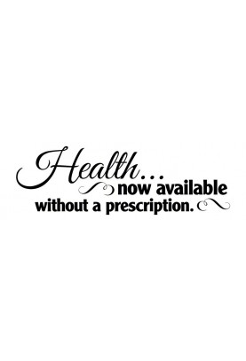 "Health Now Available Decal - 60"" x 20"""