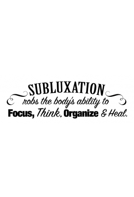 "Subluxation Robs the Body Decal - 60"" x 20"""