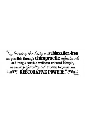 "Subluxation-free Decal - 60"" x 20"""