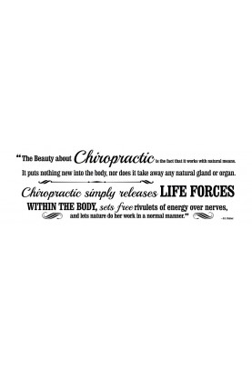 "The Beauty About Chiropractic Decal - 60"" x 20"""