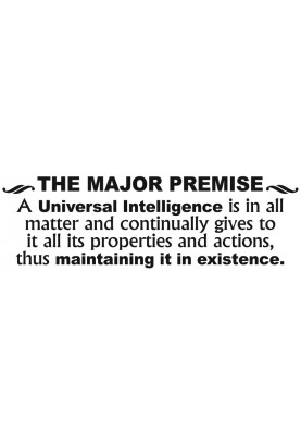 "The Major Premise Decal - 60"" x 20"""