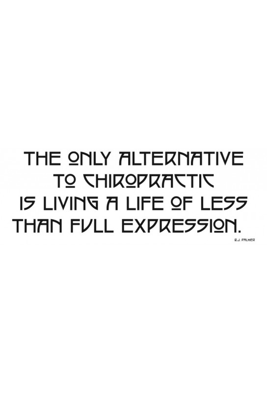 Full Expression Chiropractic Epigram Size Color 48 Quot X 18