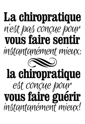 "Designed to Heal Better Decal (French) - 22"" x 29"""