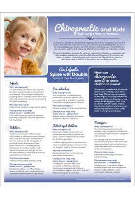 Chiropractic and Kids Handout