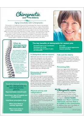 Chiropractic and the Elderly Handout