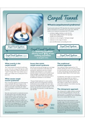 Chiropractic Carpal Tunnel Syndrome Handout