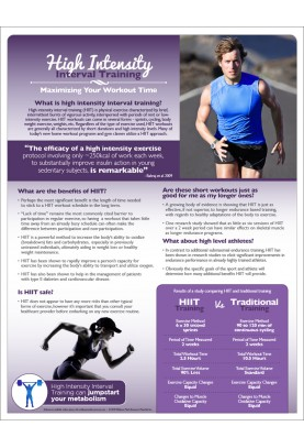 High Intensity Interval Training Handout