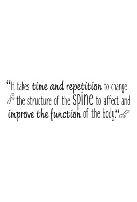 "Time and Repetition Decal - 60"" x 20"""
