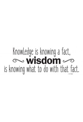 "Knowledge and Wisdom Decal - 30"" x 10"""