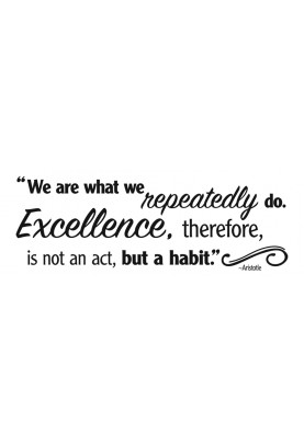 "Excellence is a Habit Decal - 30"" x 10"""