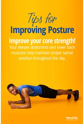 Tips for Improving Posture Poster