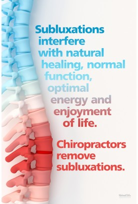 Subluxations Interfere With Natural Healing Poster