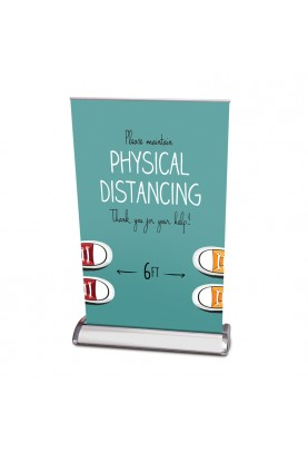 Physical Distancing Table Top Banner