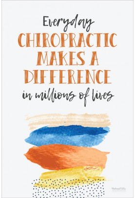 Everyday Chiropractic Makes a Difference Poster (2)