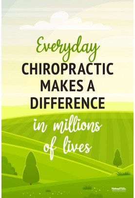 Everyday Chiropractic Makes a Difference Poster (3)
