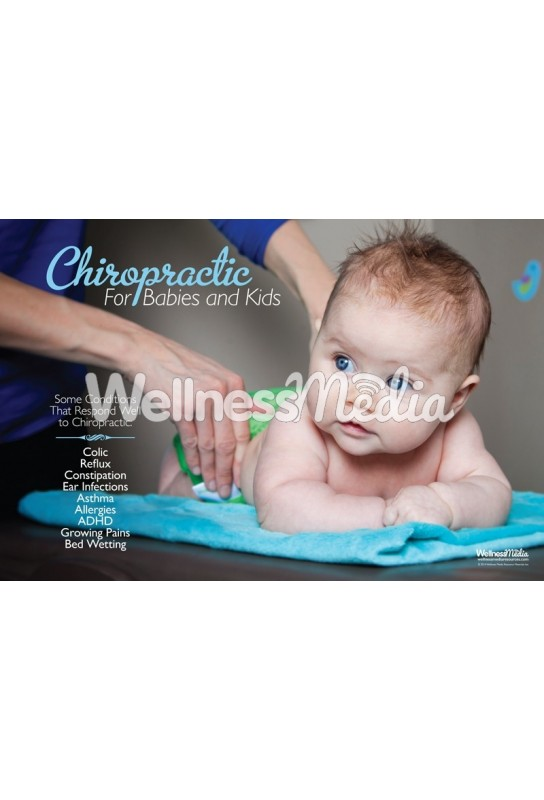 Chiropractic Babies and Kids Conditions Poster